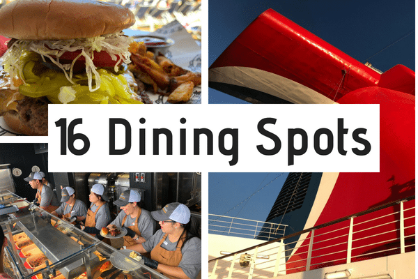 16 Dining Spots on Carnival Horizon