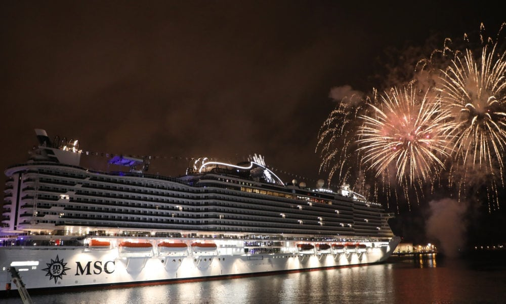 MSC Seaview Christened in Italy