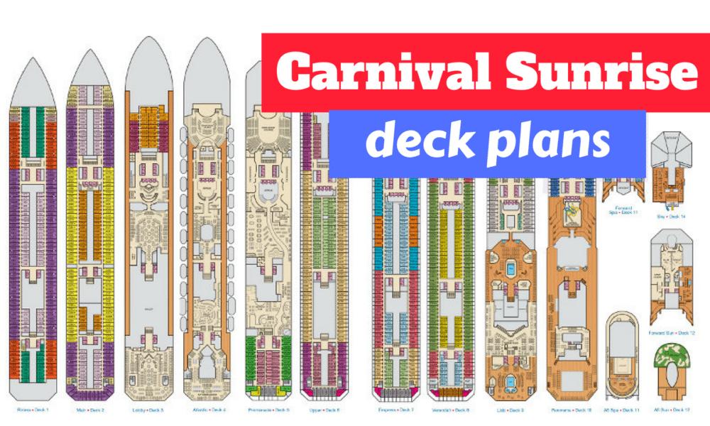 Carnival Sunrise Deck Plan Analysis