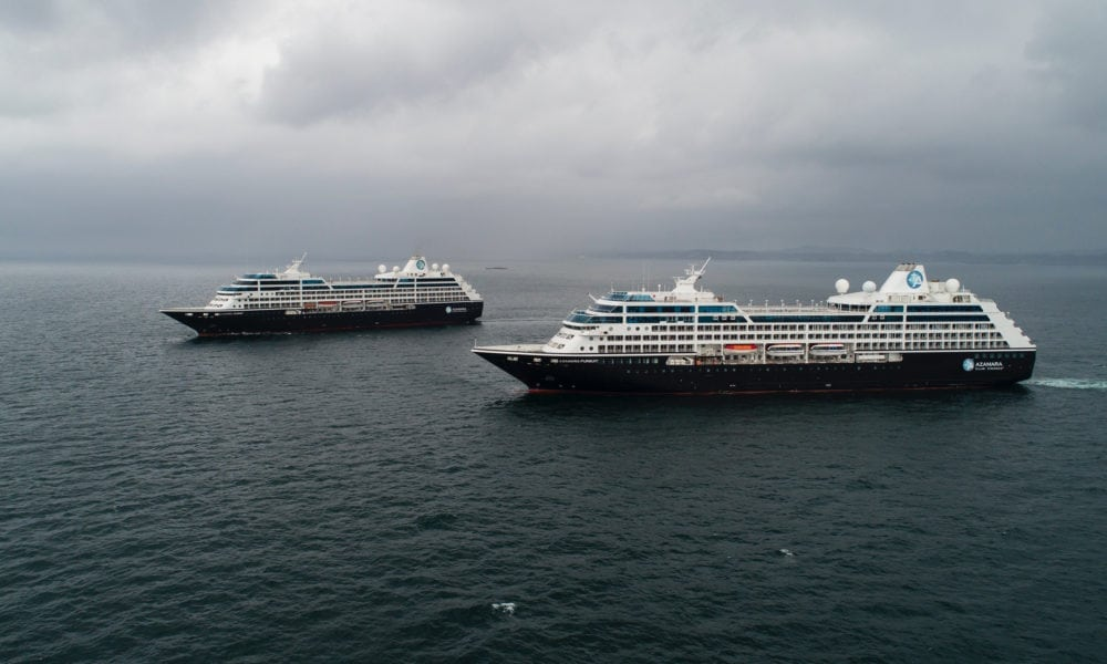 Sister Cruise Ships Meet For The First Time in Norway
