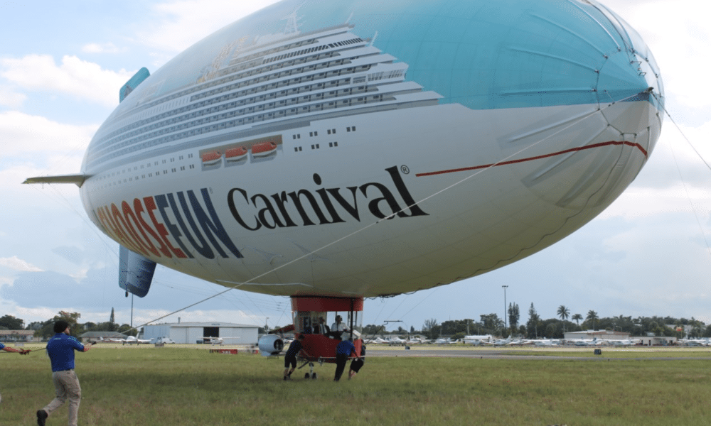Carnival Corporation CEO Takes Flight in Blimp