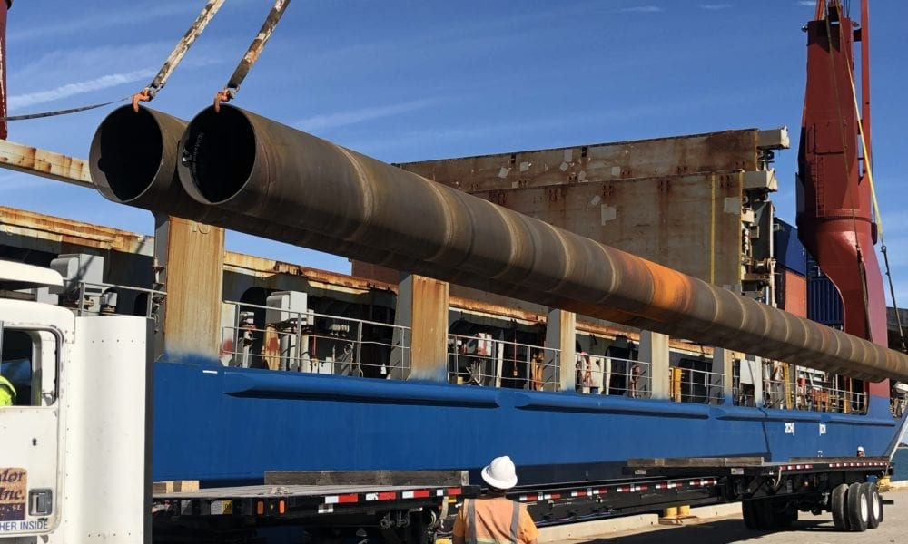 First Steel for New Terminal Arrives at Port Canaveral