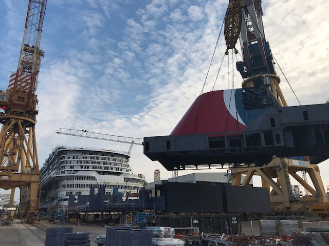 New Carnival Cruise Ship Gets Her Funnel