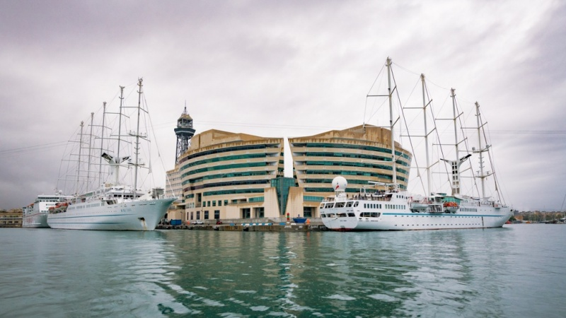 Three Windstar Ships Visit Barcelona on the Same Day
