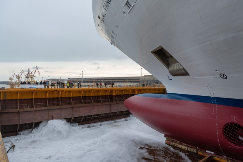 New Carnival Ship Floated Out in Italy