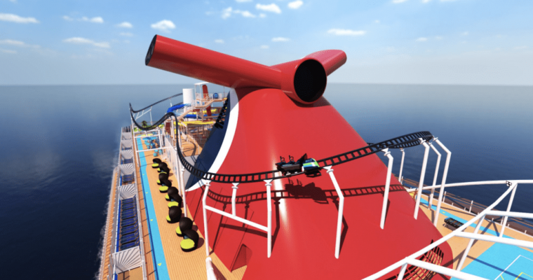 Carnival's New Cruise Ship Will Feature A Roller Coaster