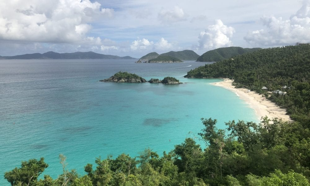 Getting to Trunk Bay from Cruise Ship (2018)