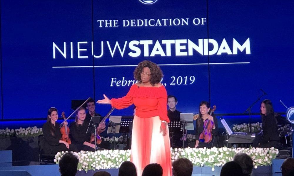 Oprah Winfrey Just Christened a Cruise Ship