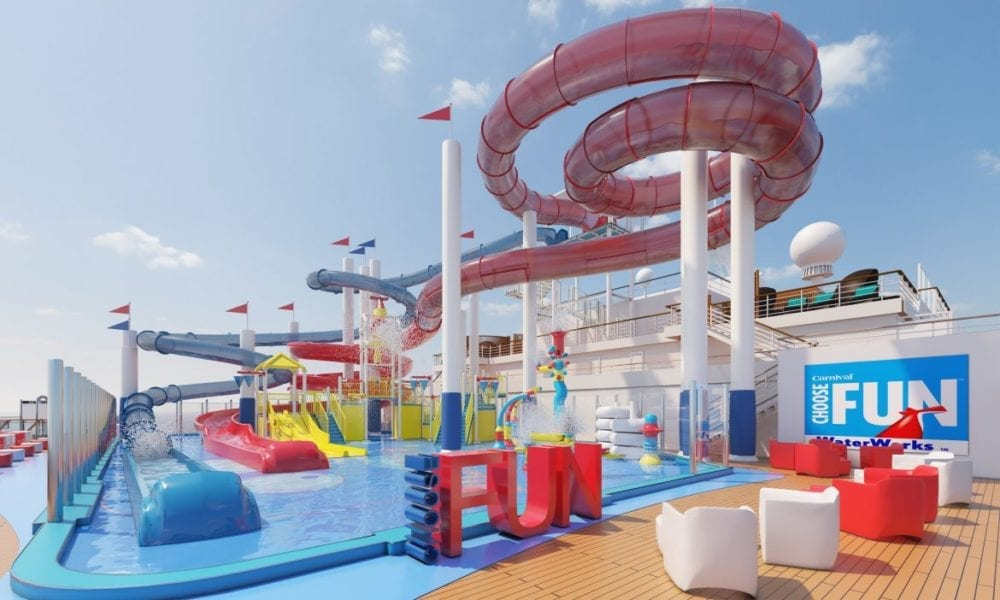 Carnival Debuts New Cruise Ship Water Park