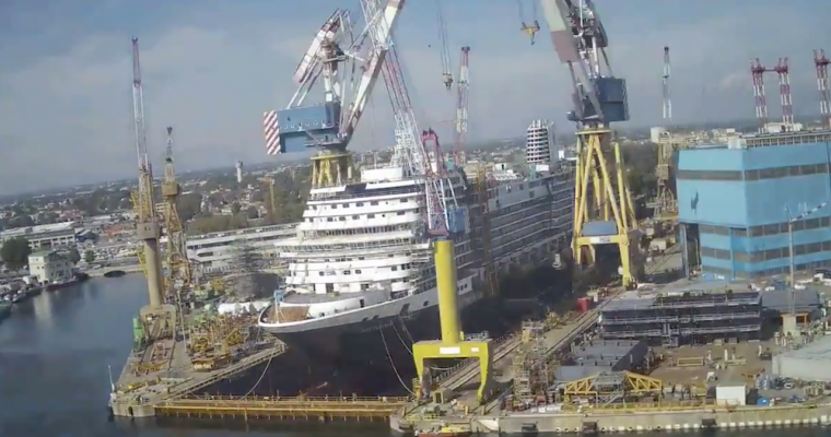Impressive Timelapse of New Cruise Ship Being Built [VIDEO]