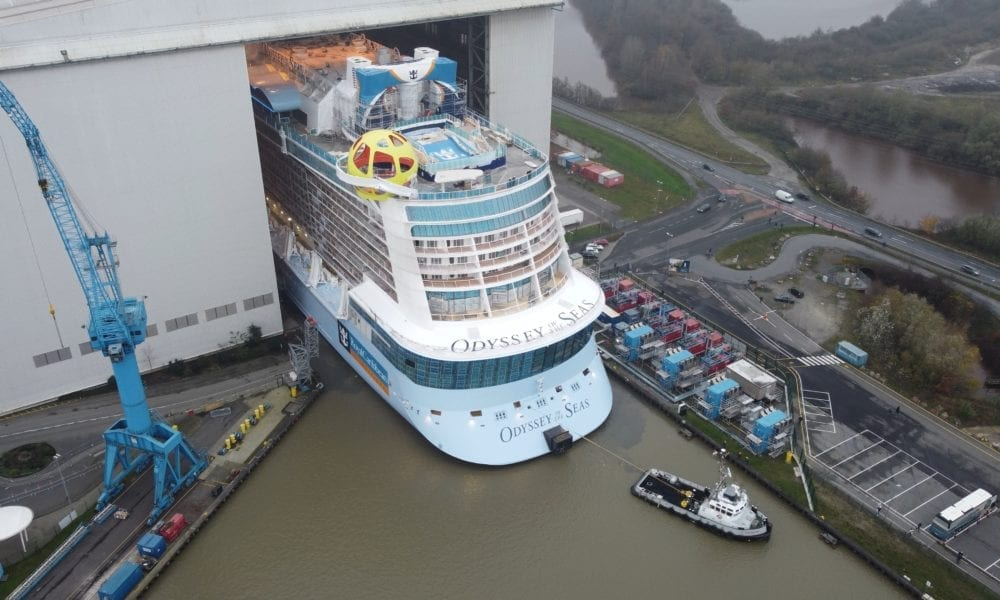 Royal Caribbean's Next Ship Floated Out of Dry Dock [PHOTOS]