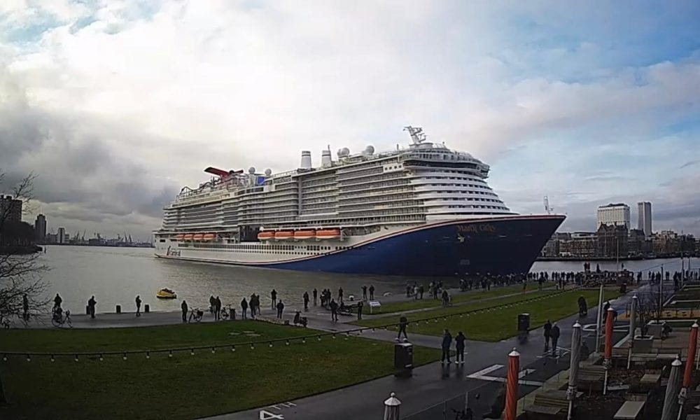Brand New Carnival Cruise Ship Makes Inaugural Port Stop [VIDEO]