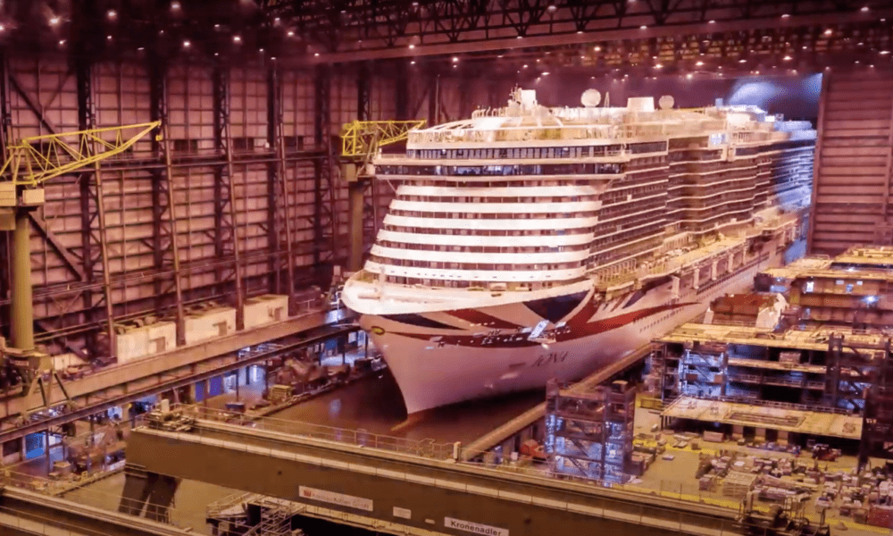 Cruise Line Shares Construction Timelapse of New Ship [VIDEO]