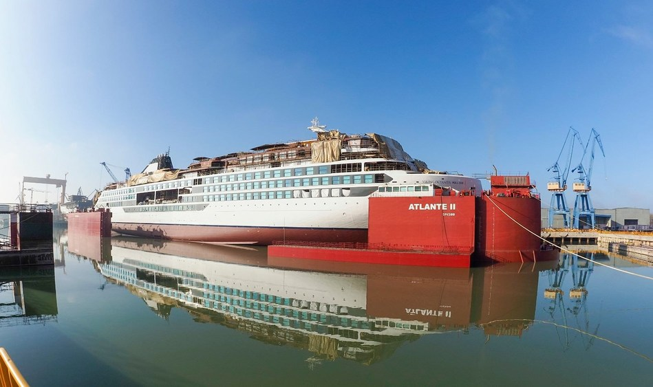Viking's First Expedition Ship Marks Construction Milestone
